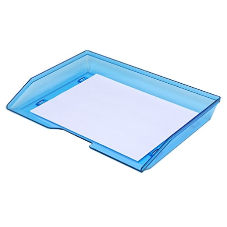 Acrimet Facility Single Letter Tray Clear Blue Color