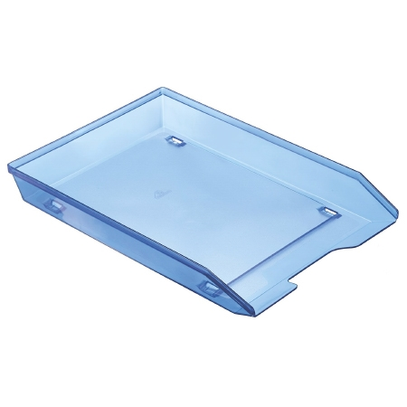 Acrimet Facility Single Letter Tray Frontal Clear Blue Color