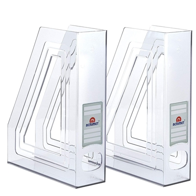 Acrimet Magazine File Holder Crystal Color 2 Pack