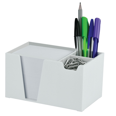 Acrimet Desk Organizer Pencil Paper Clip Holder White