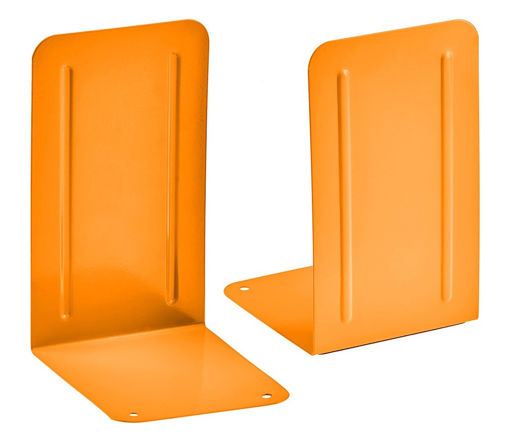 Acrimet Bookends Premium (Orange Color) (1 Pair Pack)