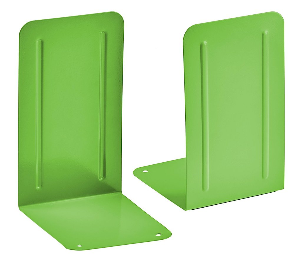 Acrimet Premium Bookends (Green Citrus Color) 1 Pair