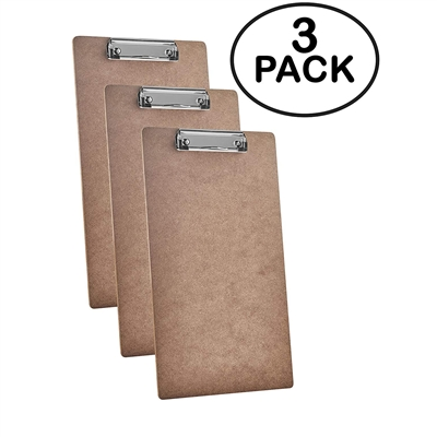 Acrimet Clipboard Legal Size Wire Clip Hardboard 6 Pack