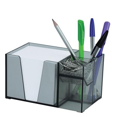 Acrimet Desk Organizer Pencil Paper Clip Holder Smoke