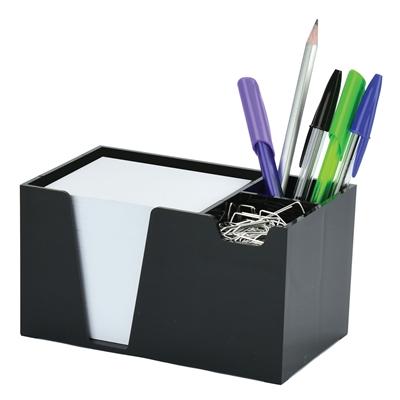 Acrimet Desk Organizer Pencil Paper Clip Holder Black